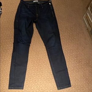 Dark Blue Good American Jeans size 27